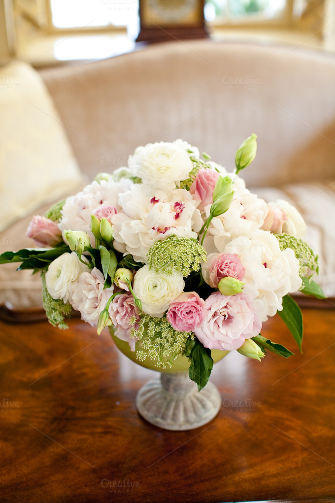 Love this peony arrangement