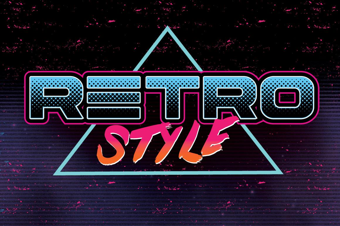80 S Retro Graphic Styles Layer Styles On Creative Market