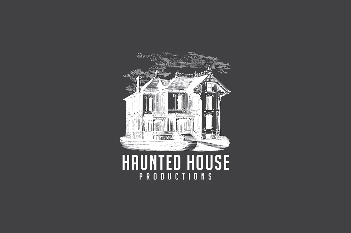 haunted house logo