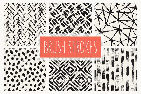 Brush Strokes. Seamless Patterns v.1 - Patterns