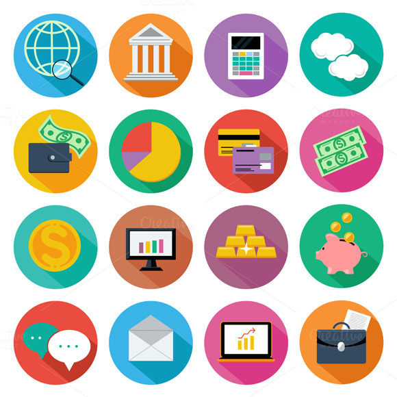 Icon Set For Finance Investment