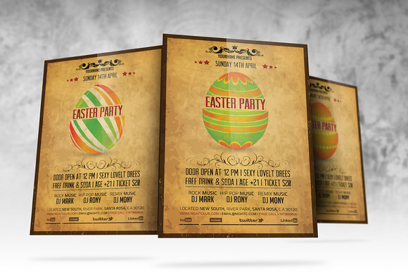 Vintage Easter Party Flyer - Flyers - 2