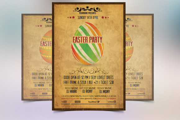 Vintage Easter Party Flyer - Flyers - 4