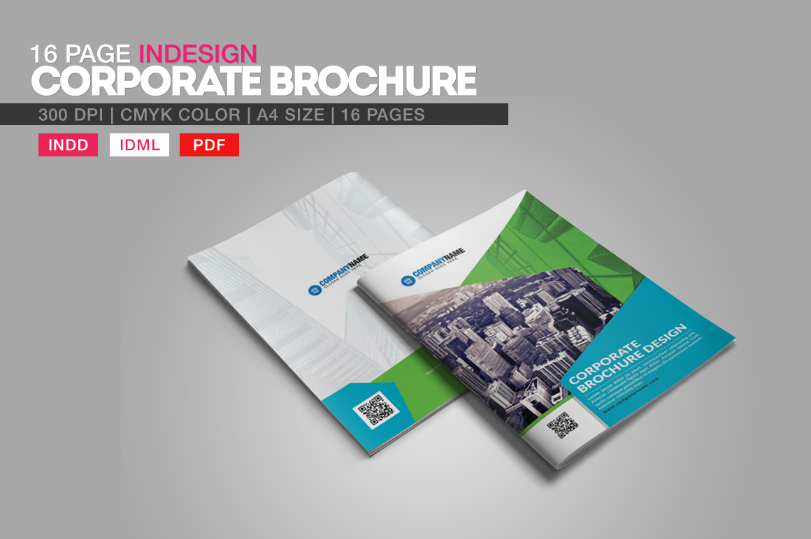 corporate brochure design - 16 page indesign corporate brochure brochure templates