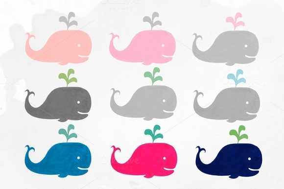 baby shower whale clipart - photo #49