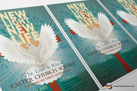 Illustrated Easter Flyer Template - Flyers - 4