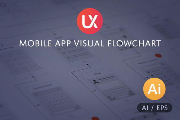Mobile App Visual Flowchart AI