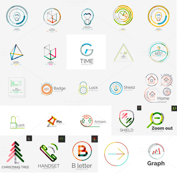 web and tech logos graphics on creative market