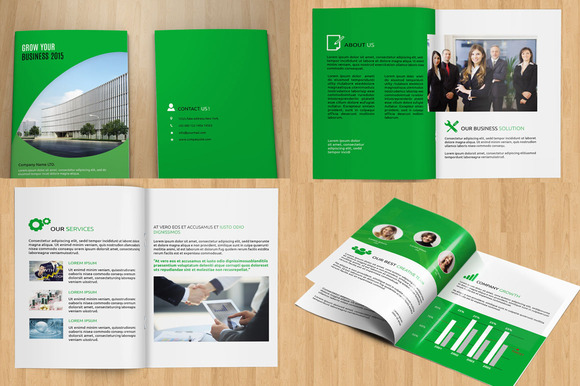 Indesign corporate brochure v95 brochure templates on for Indesign bi fold brochure template