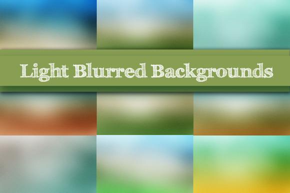 10 Light Blurred Backgrounds