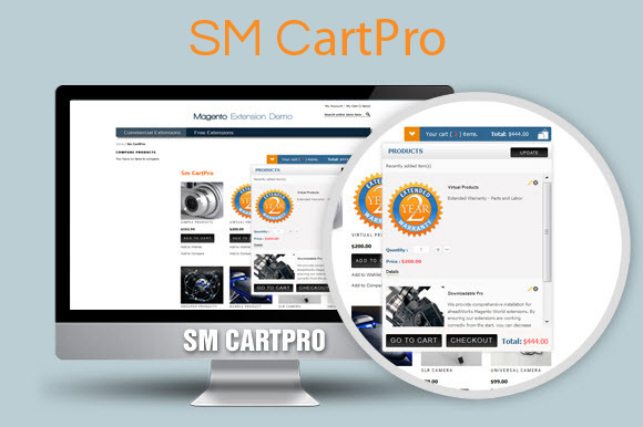 SM CartPro Magento Module - Add-Ons - 1