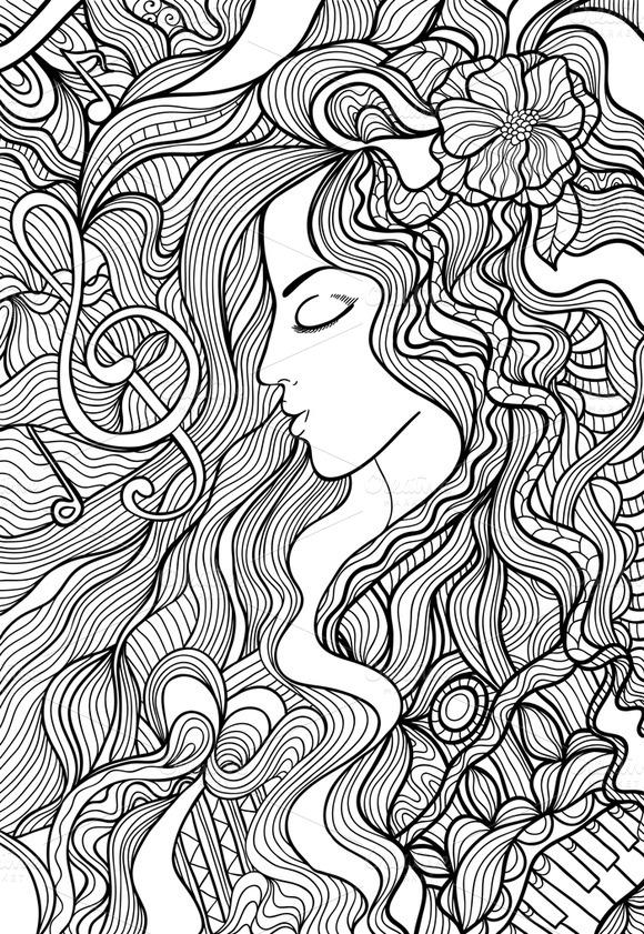 Black And White Vector Illustration