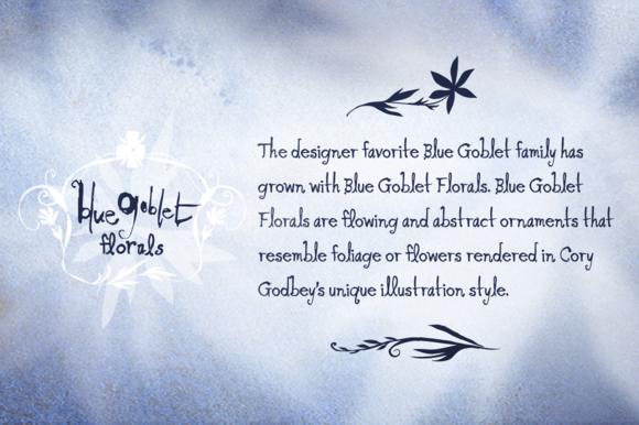 Blue Goblet Florals