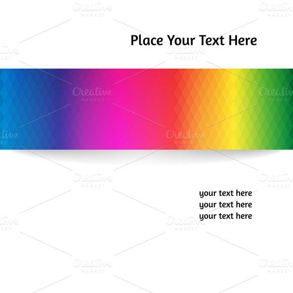 Vector Card With A Rainbow Stripe