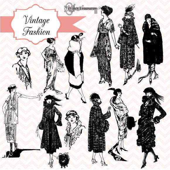 Vintage Fashion Illustrations