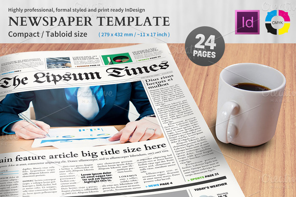 Newspaper Template Compact Tabloid