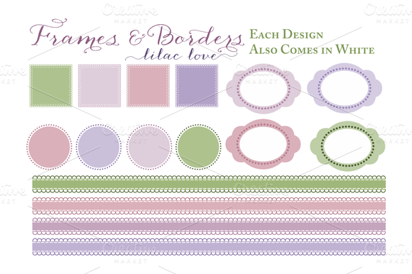 Purple Frames And Borders