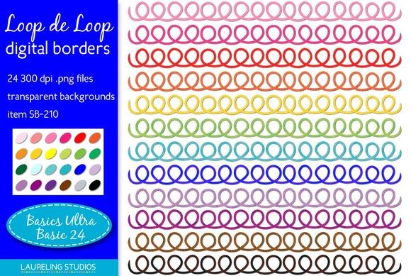 Loop Digital Clip Art Borders