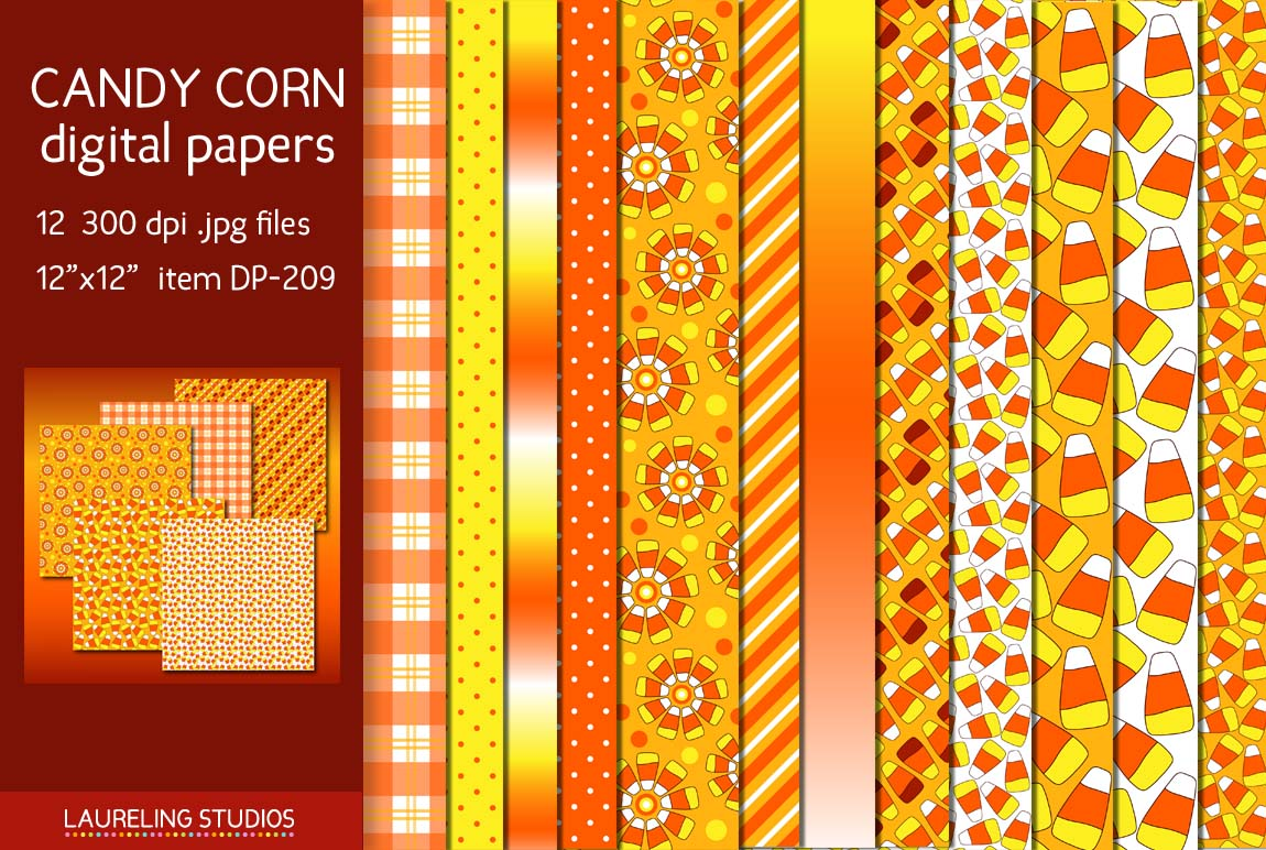 Candy Corn Products Candy Corn Digital Paper