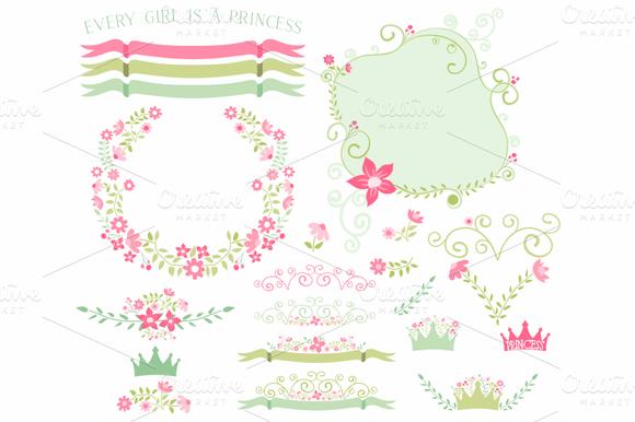 Princess Florals Ribbons