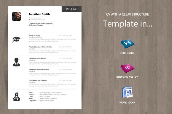 Minimal Curriculum Vitae CV - Resume - Resumes - 1