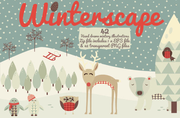 Winterscape! 42 Ice Cold Doodles... - Illustrations