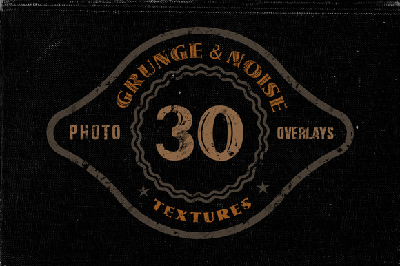30 Noise Or Grunge Overlay Textures