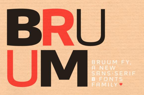免费字体 Bruum FY Black丨反斗限免