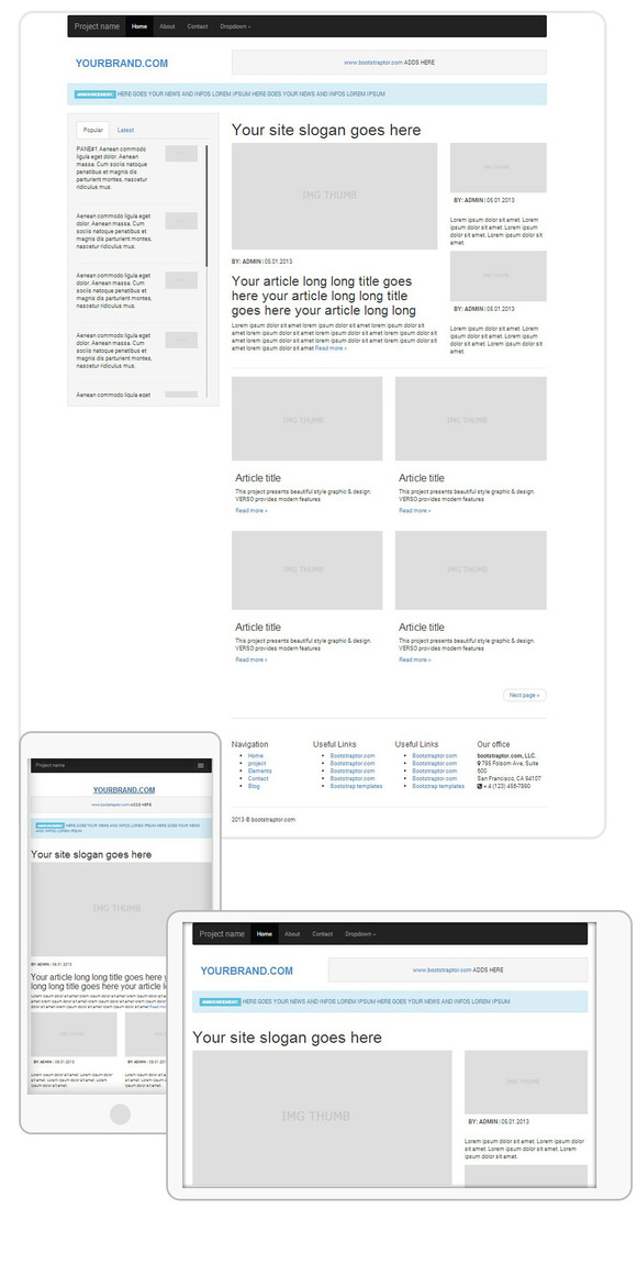 Mag Blog Responsive Template BS3.0