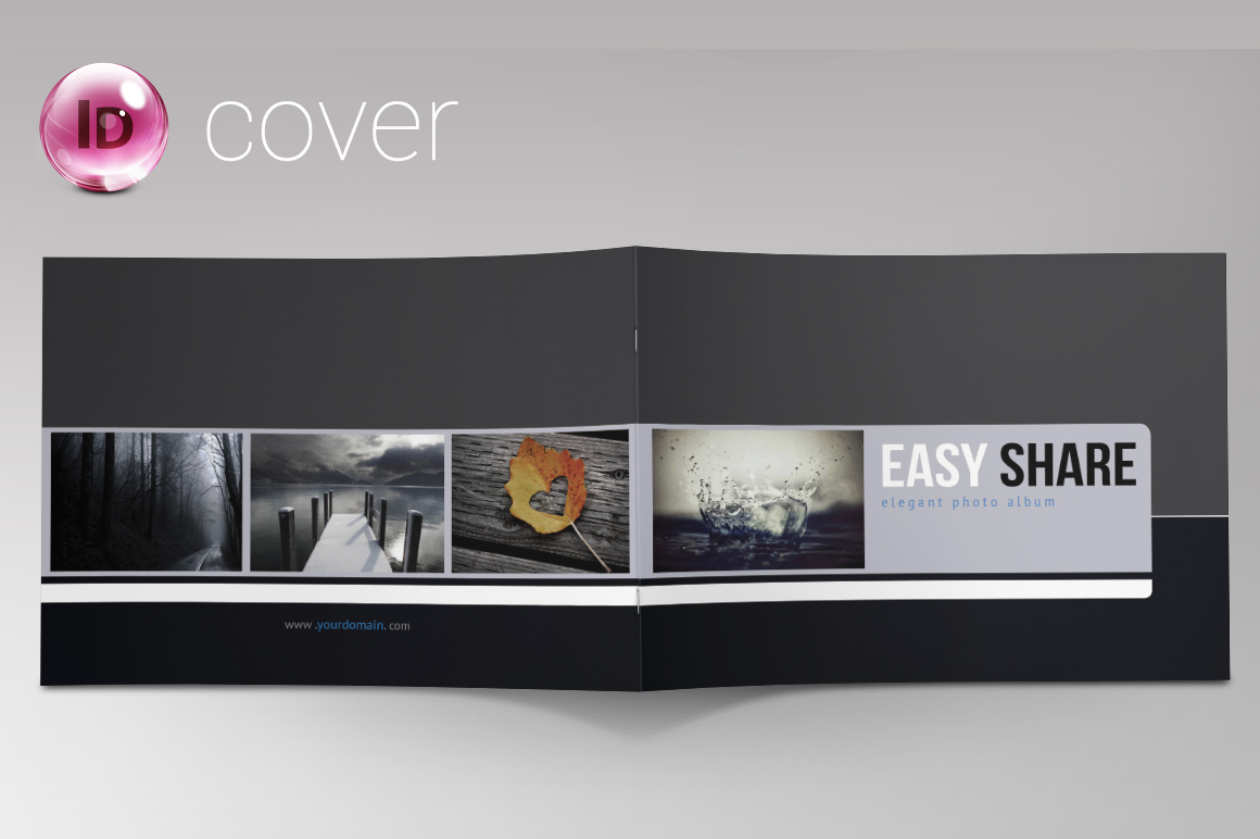 Indesign photo album portfolio brochure templates on for Cd cover template indesign