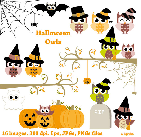 Halloween Owls. Happy Halloween - Illustrations