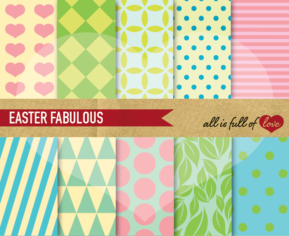 Digital Scrapbooking Patterns Kit