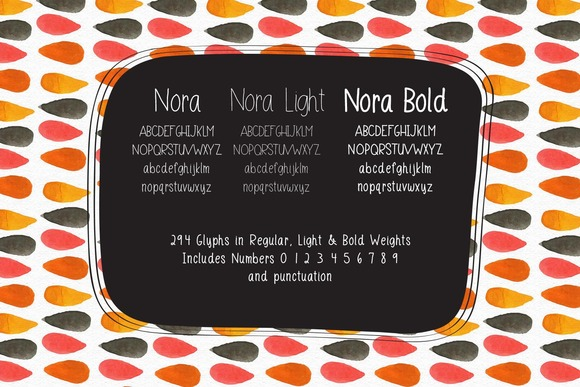 Nora A Hand Lettered Font