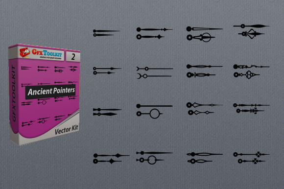 32 Vector Ancient Pointers