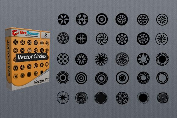 30 Circular Vector Designs