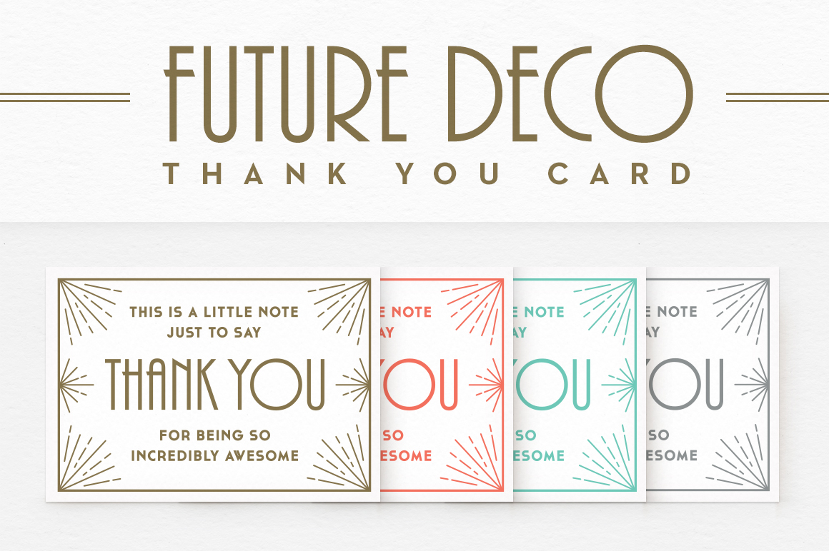 Futuredeco Thank You Card Card Templates On Creative Market