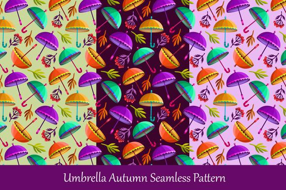 Umbrella Autumn Seamless Pattern