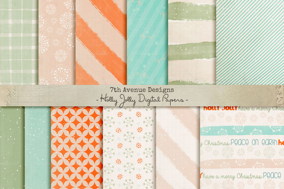 Holly Jolly Digital Papers