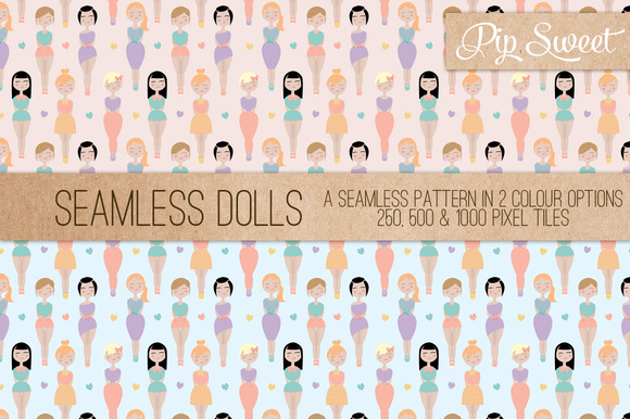 Seamless Dolls Pattern