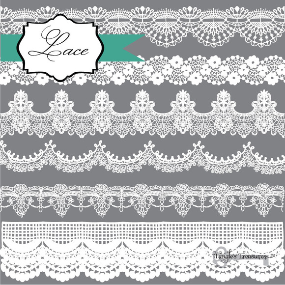 Lace Borders Clipart