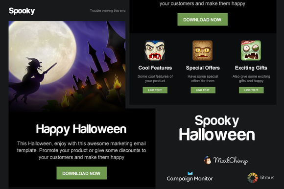 mailchimp create template from campaign - spooky halloween email template email templates on
