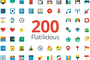 Flatilicious 200 icons-Graphicriver中文最全的素材分享平台