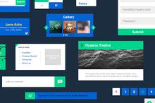 Cyanoflat - PSD Vector UI Elements