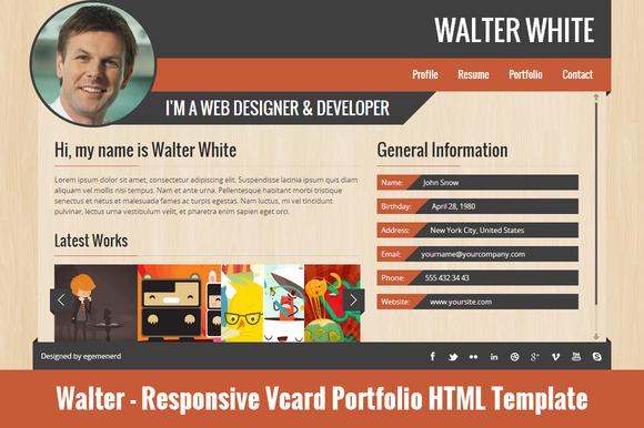 Walter Responsive Vcard Portfolio