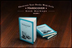 Hardcover Book Mockups - mega pack