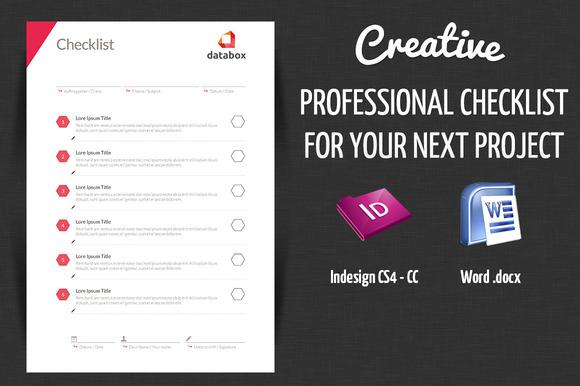 Professional Project Checklist