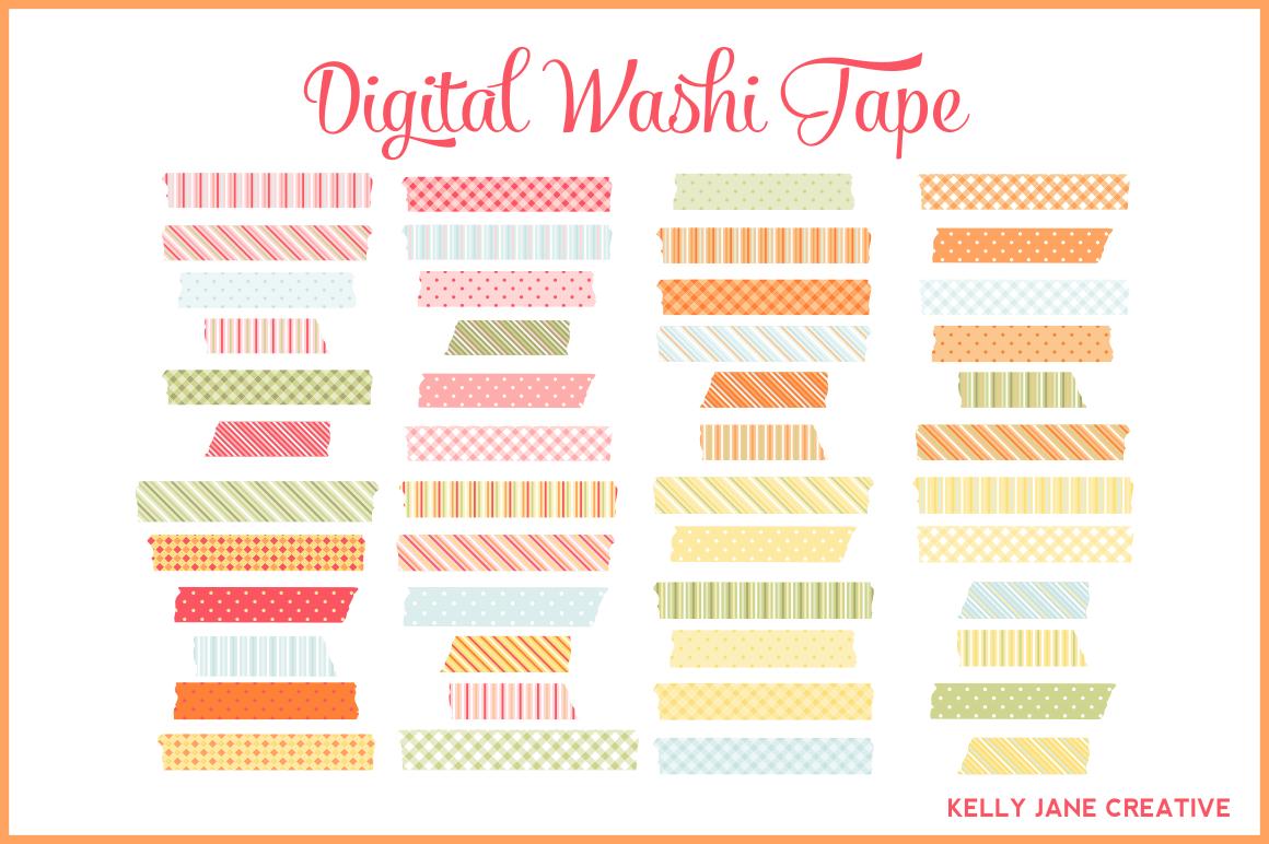 Digital Washi Tape Illustrations On Creative Market
