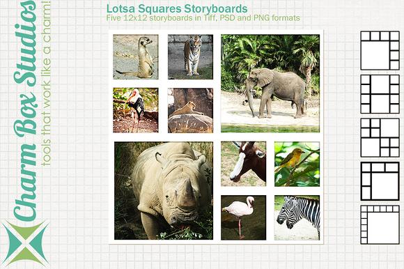 Lotsa Squares Storyboards