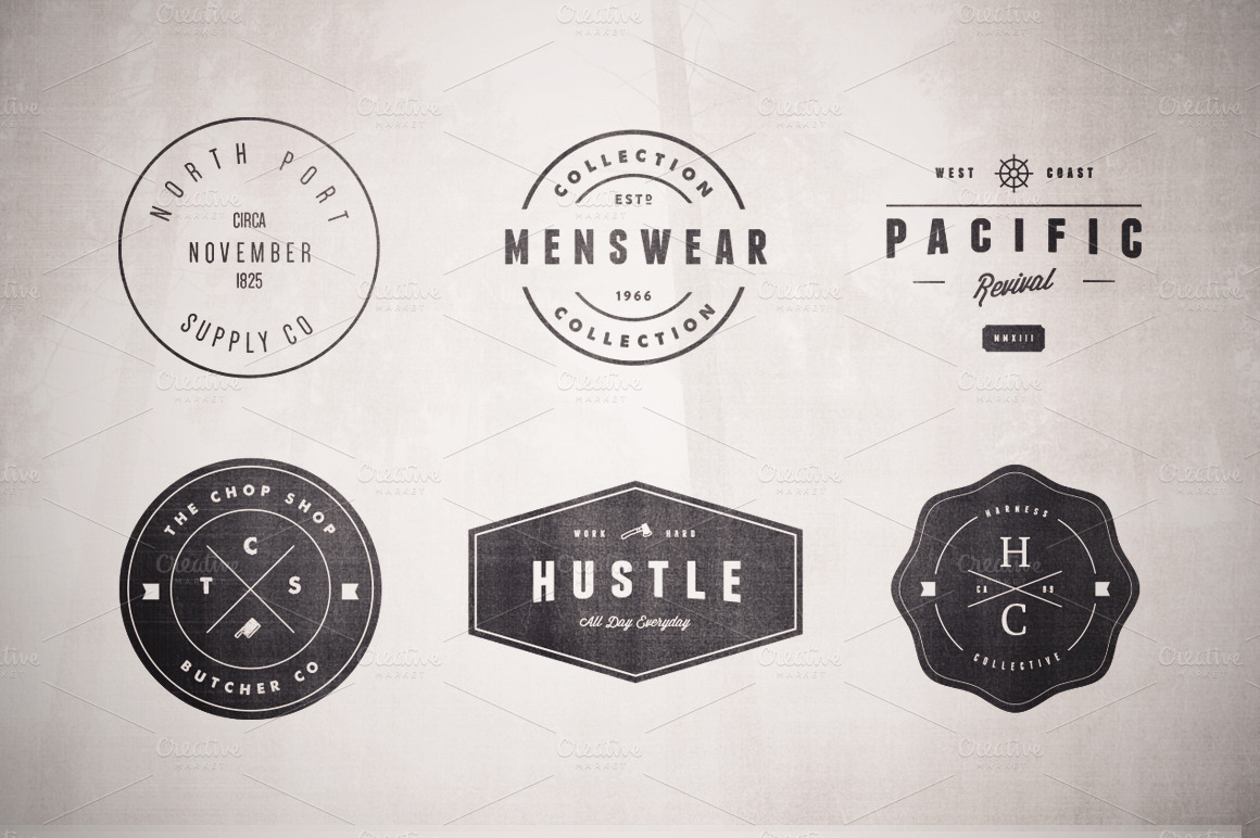 Vintage Logo Set Volume Two Logo Templates On Creative Market