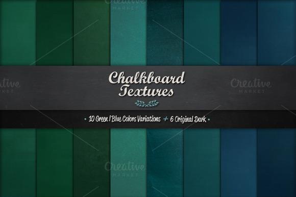 16 High Resolution Chalkboard Textures